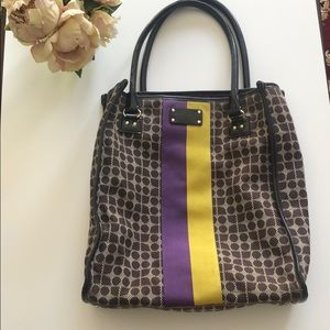 Kate Spade Tote: Purple and Yellow (Gold) stripe